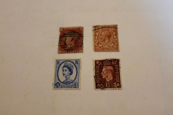 four British stamps